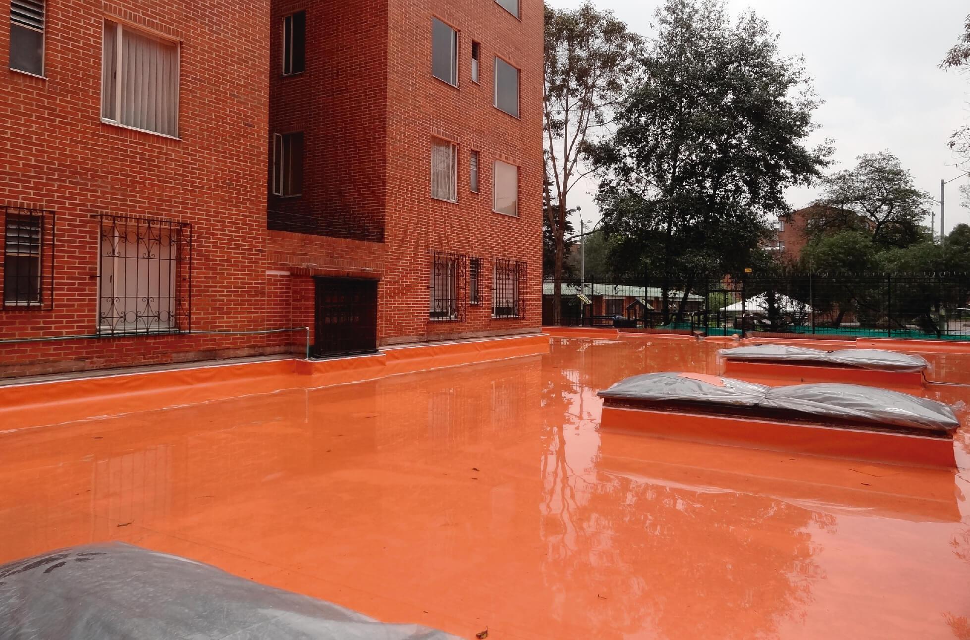 Impermeabilización de plazoletas, jardineras y terrazas
